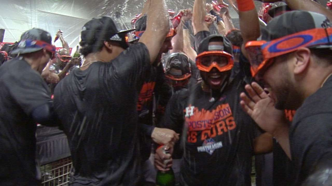 Astros celebrate return to postseason