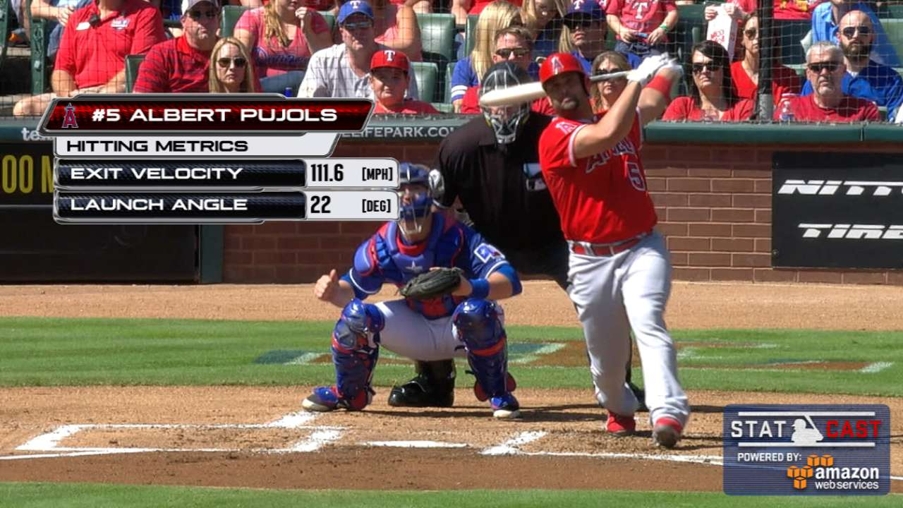 Statcast: Pujols crushes homer