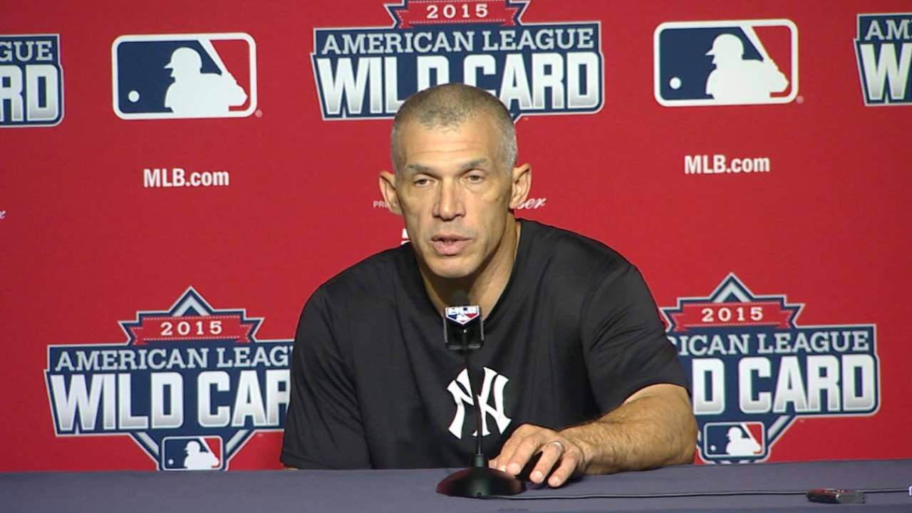 Girardi mulling options for Wild Card roster