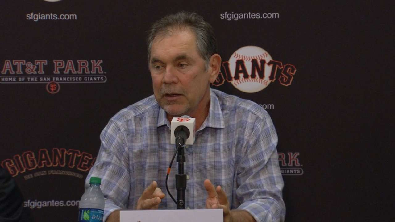 Evans sees pitching as Giants' top priority