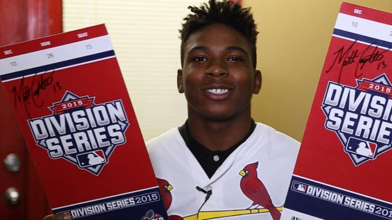 Cardinals reward student with postseason tickets
