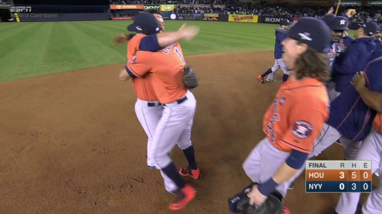 Astros advance to ALDS