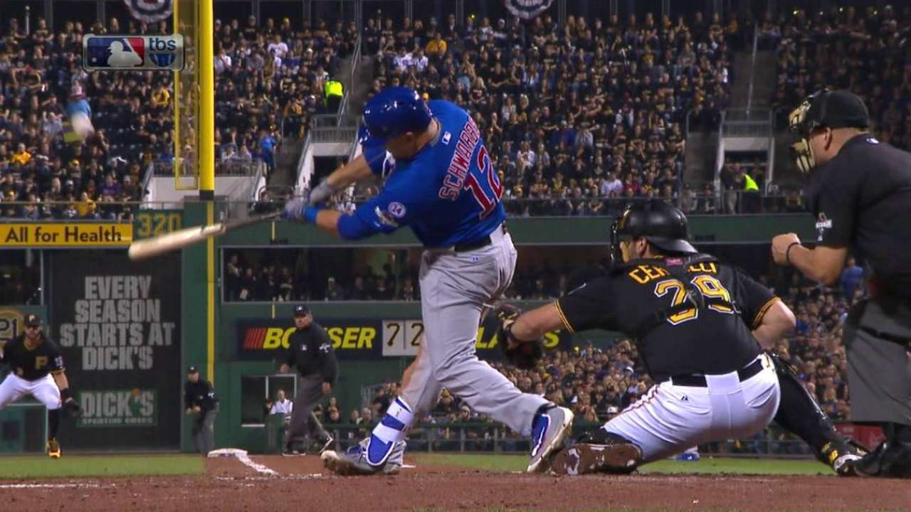 Schwarber's thump leads WC GIF offerings