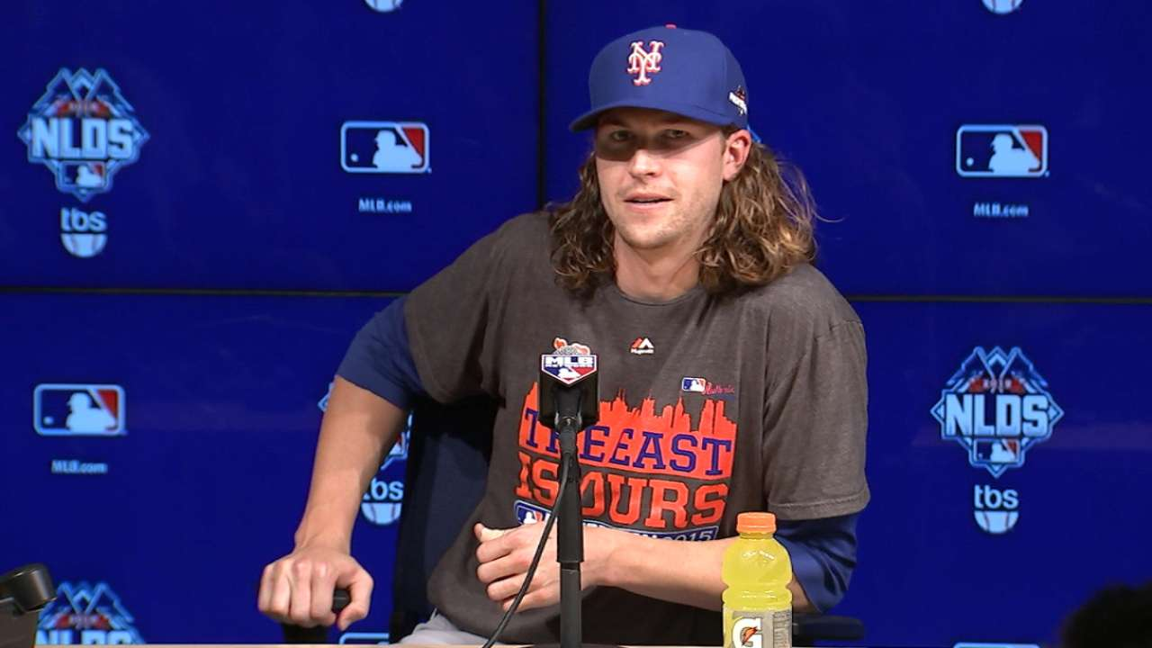 deGrom on starting NLDS Game 1