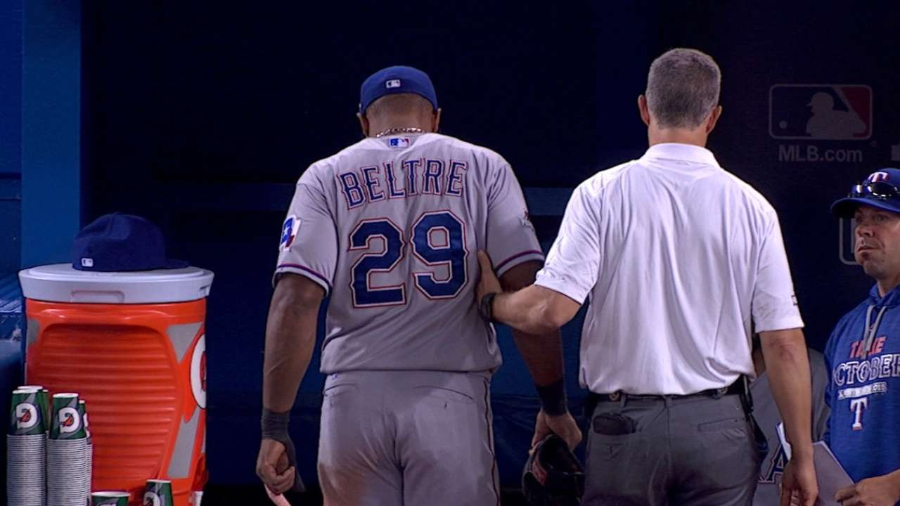 Beltre not in Game 3 lineup; Alberto starts