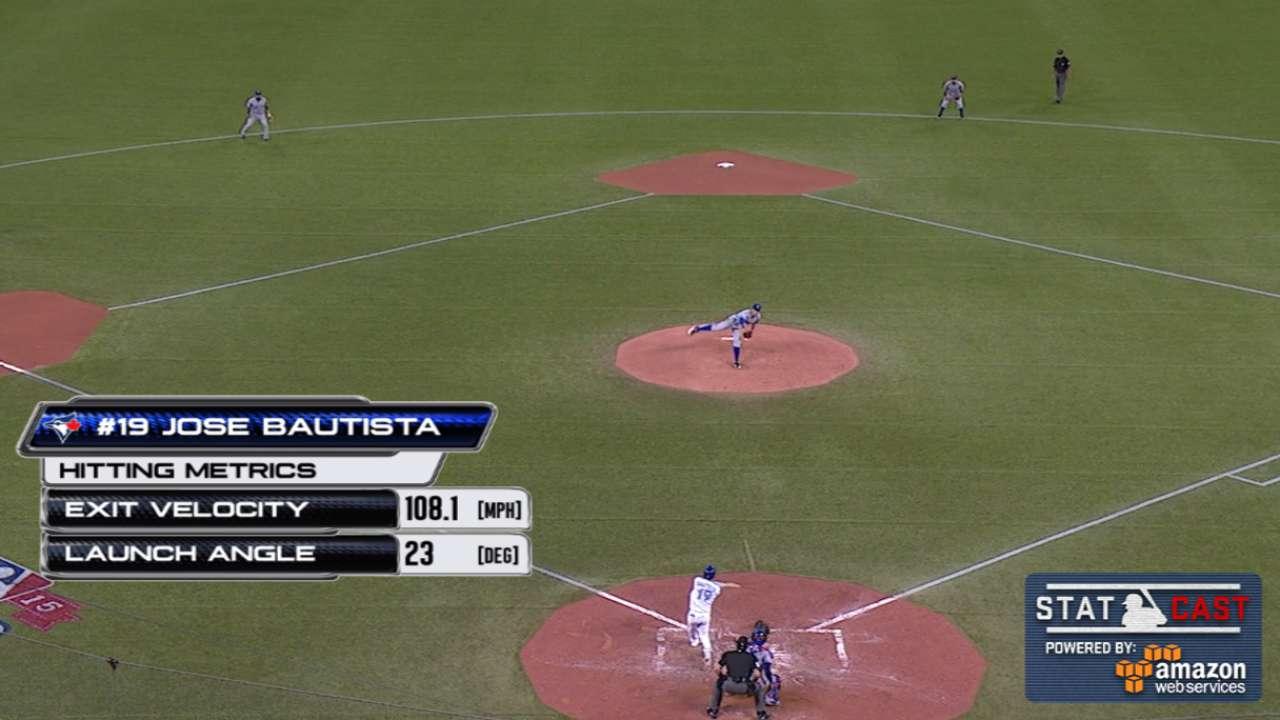Statcast: Bautista's solo homer