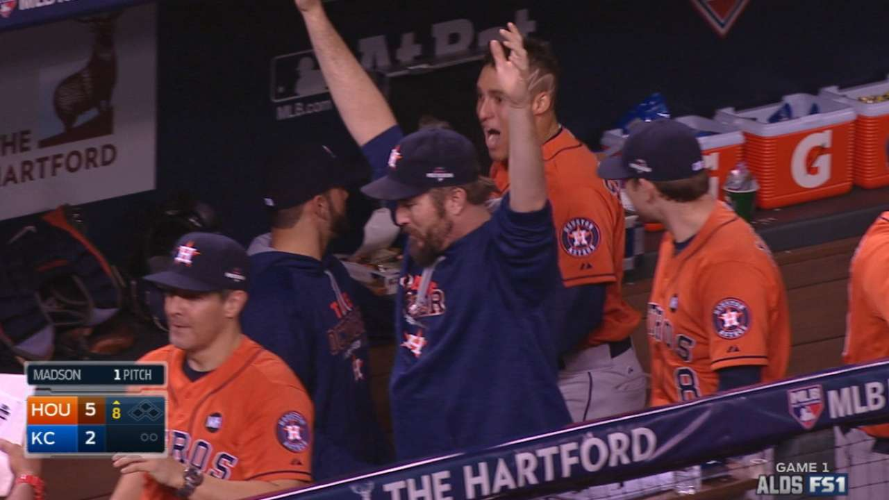 Astros back McHugh to take Game 1 in KC