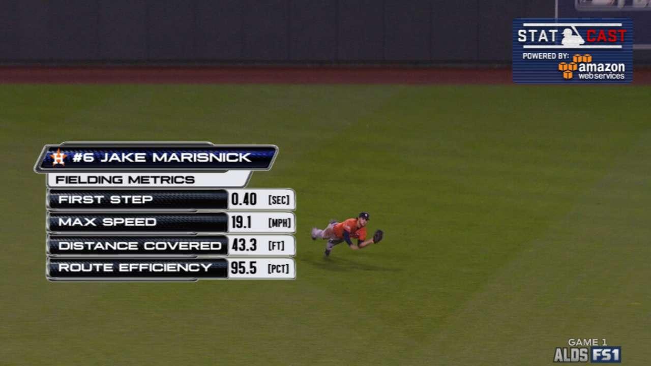 Statcast breaks down Marisnick's great catch