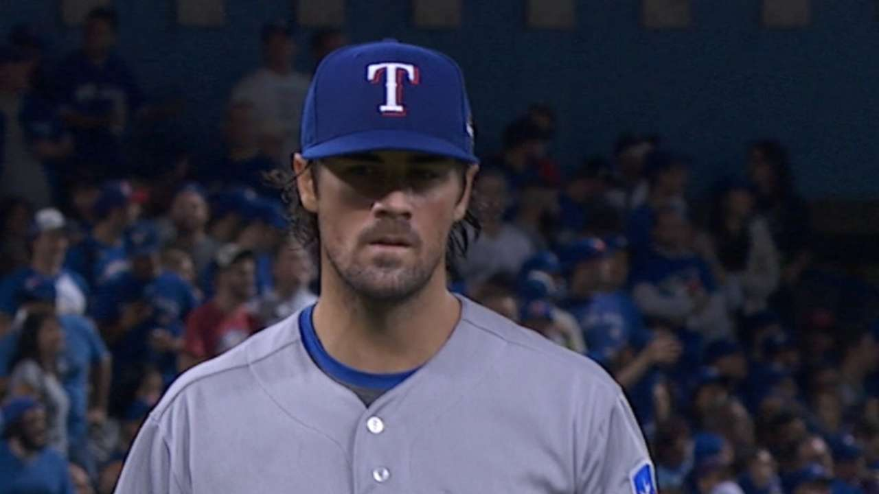 Hamels fans six over seven