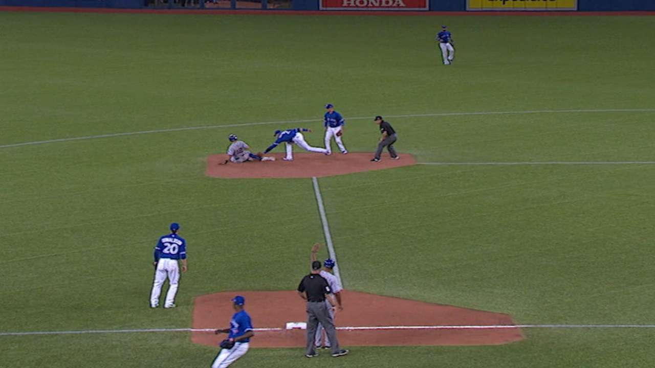 Banister on close play at second