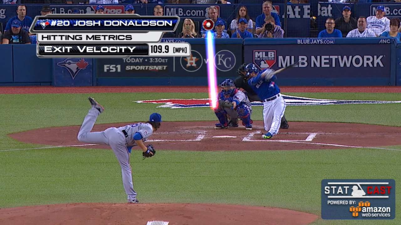 Back in the lineup, Donaldson crushes homer