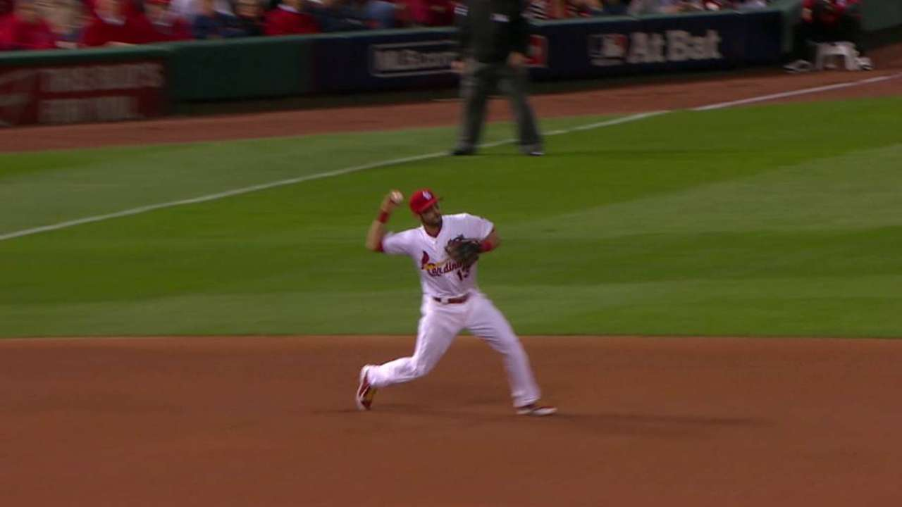 Lackey induces double play