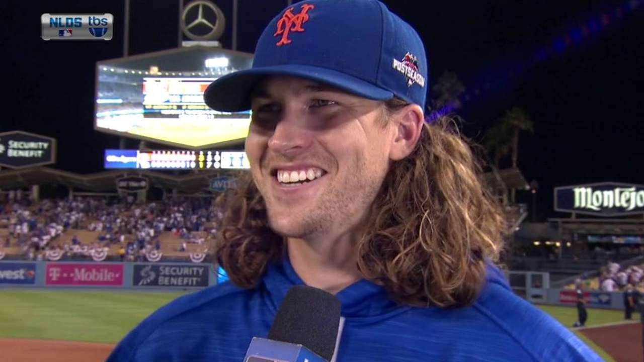 deGrom on first postseason start