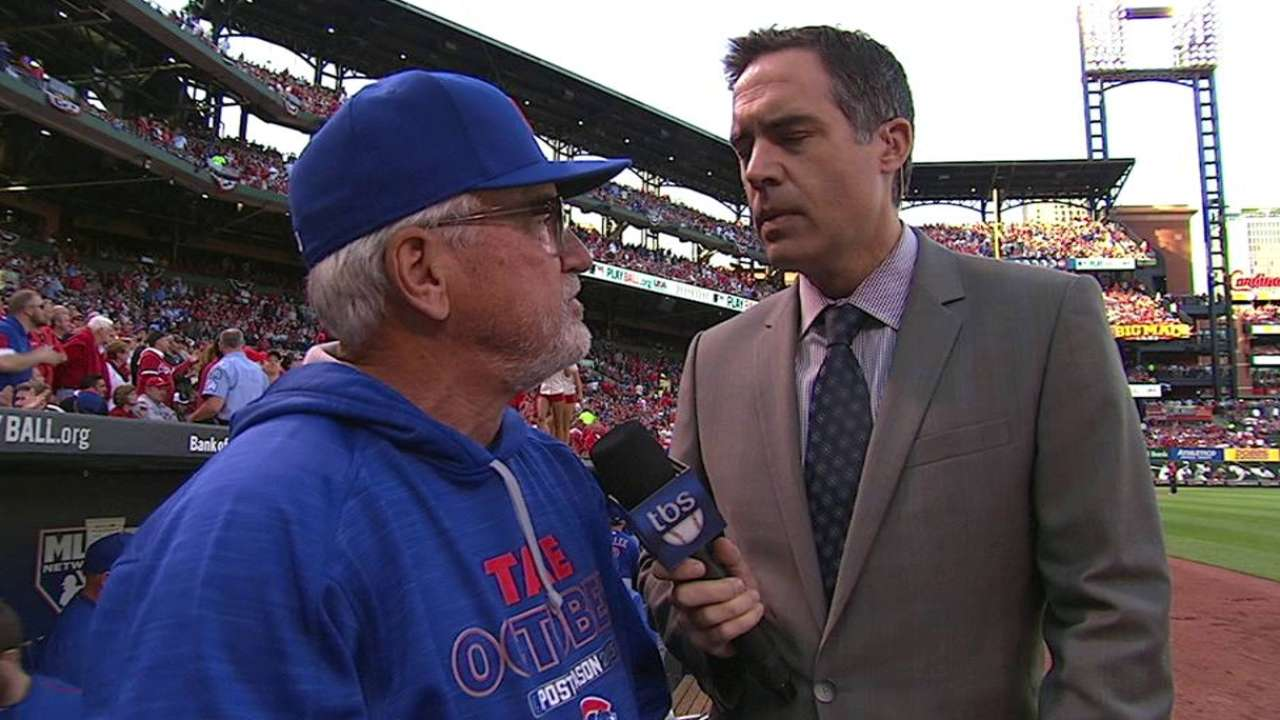 Maddon on five-spot in 2nd