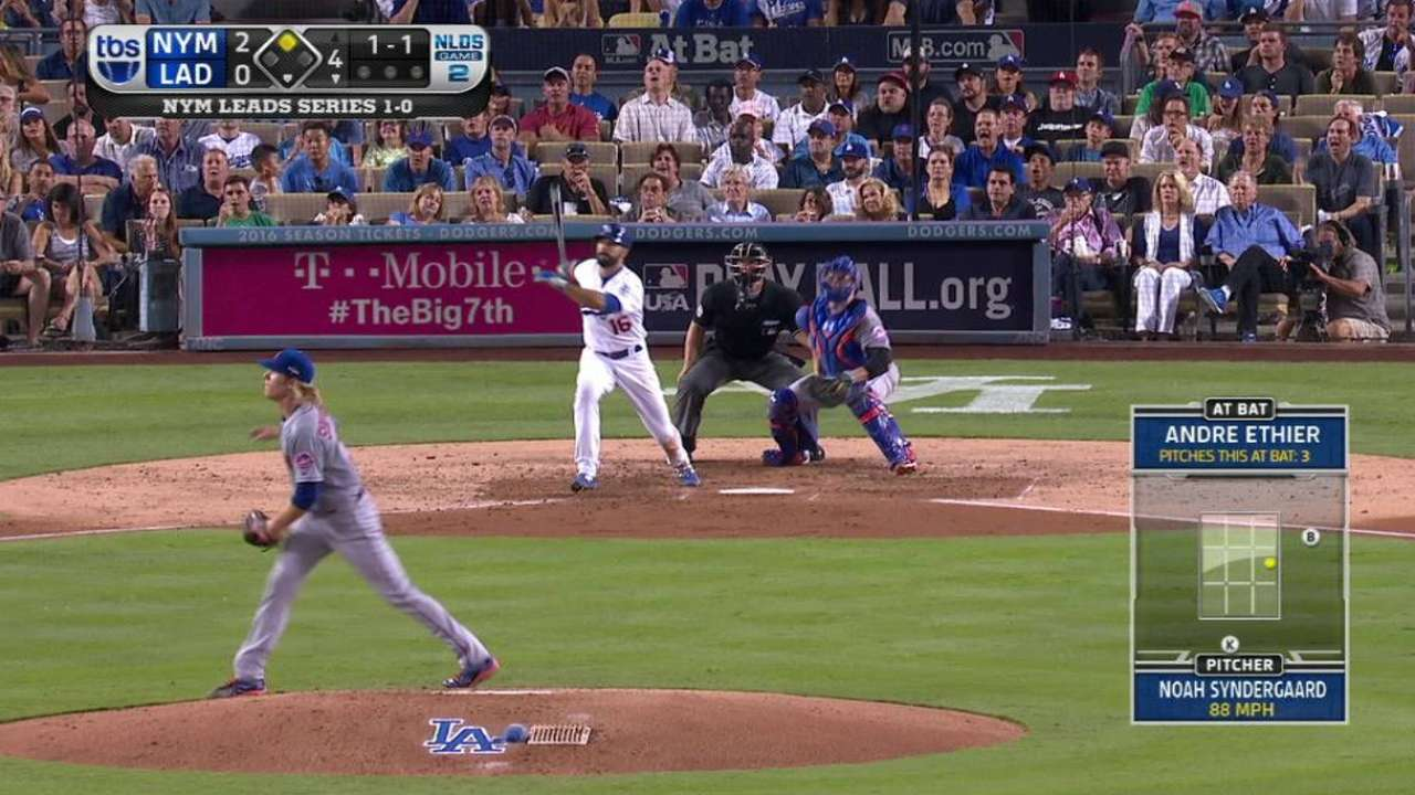 Pair of doubles gets Dodgers on board in 4th