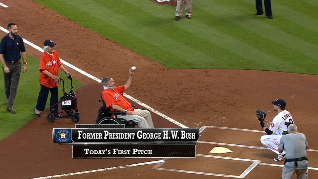 George H.W. Bush's first pitch