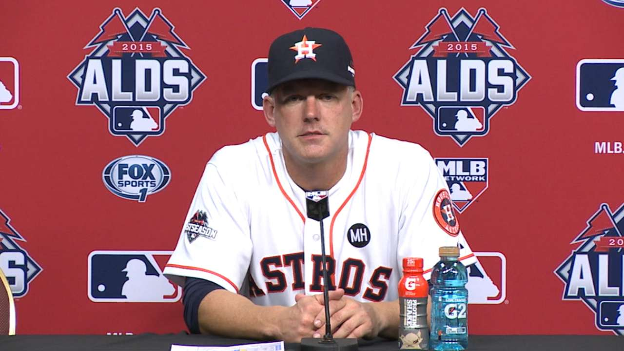 Oct. 11 A.J. Hinch postgame interview
