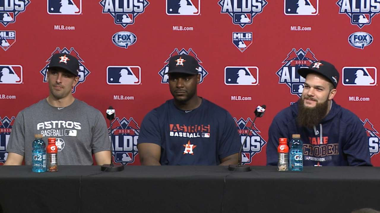 Oct. 11 Dallas Keuchel, Chris Carter & Jason Castro postgame interview