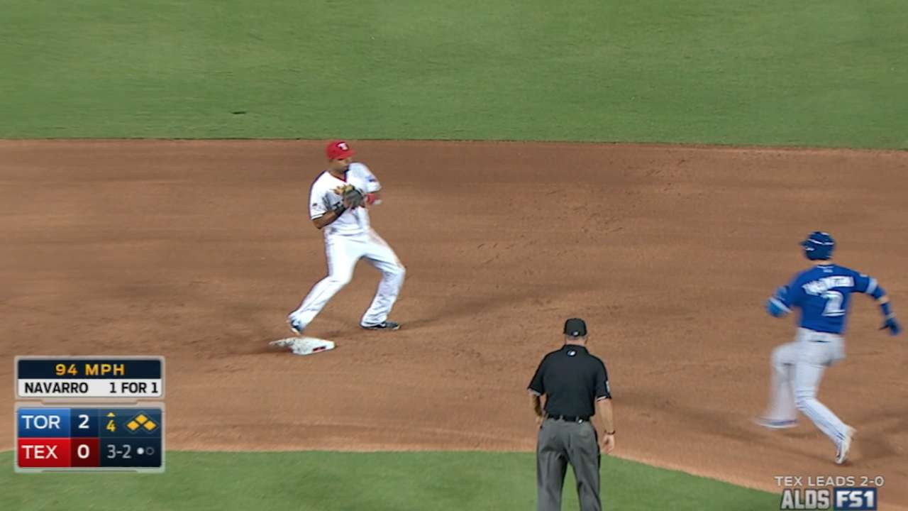 Rangers turn four double plays