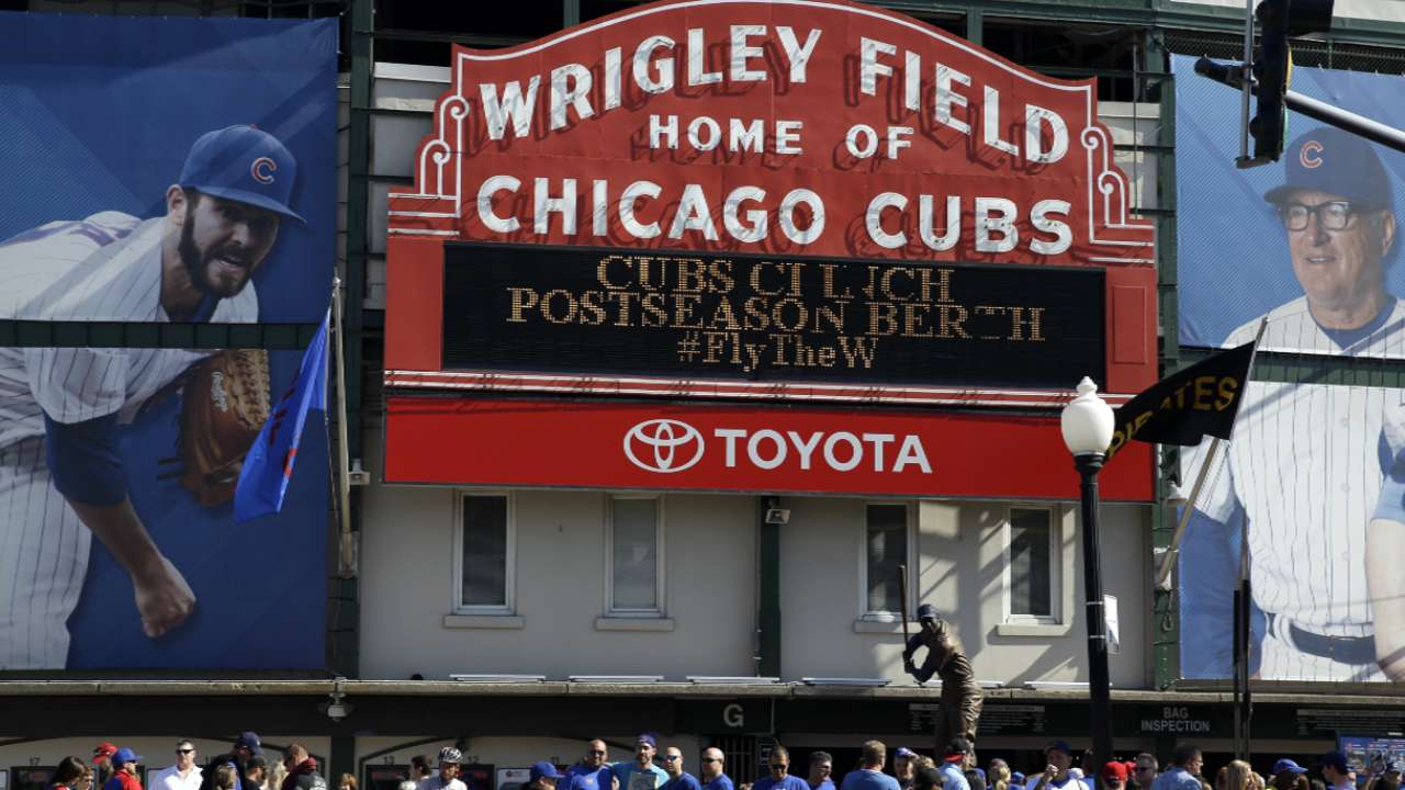 Maddon on the wind at Wrigley