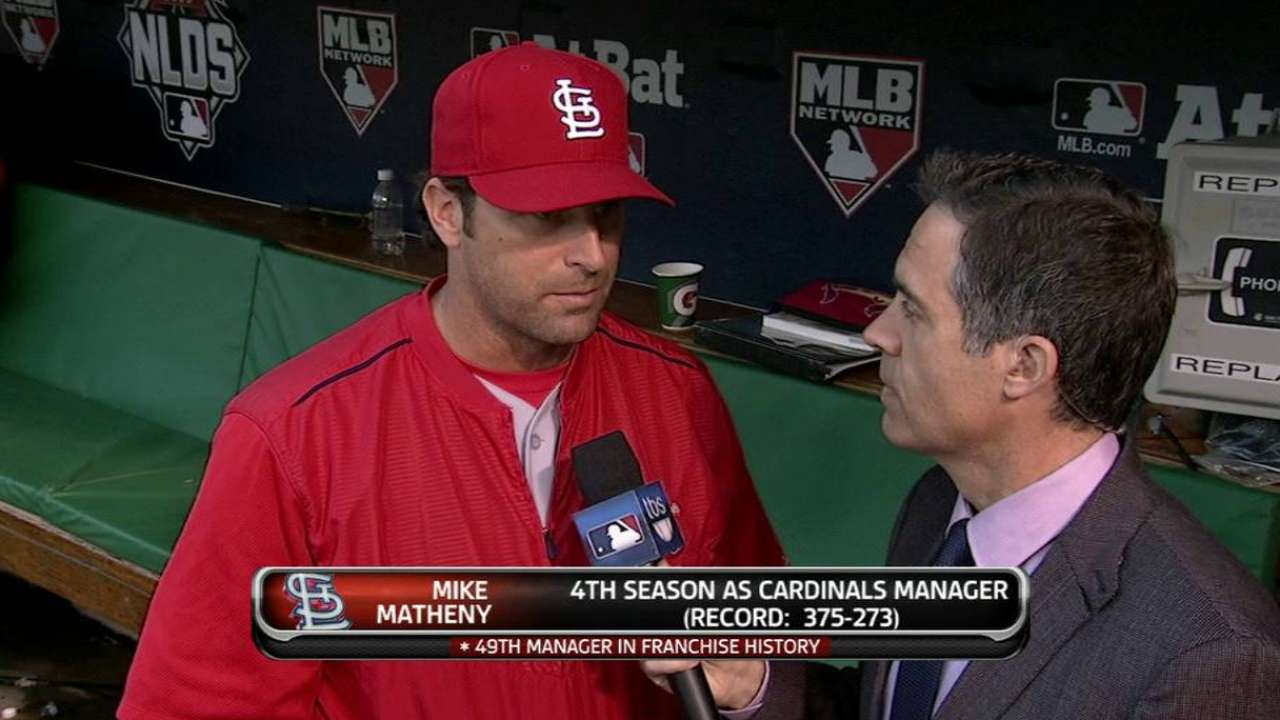 Matheny on Wacha's outing