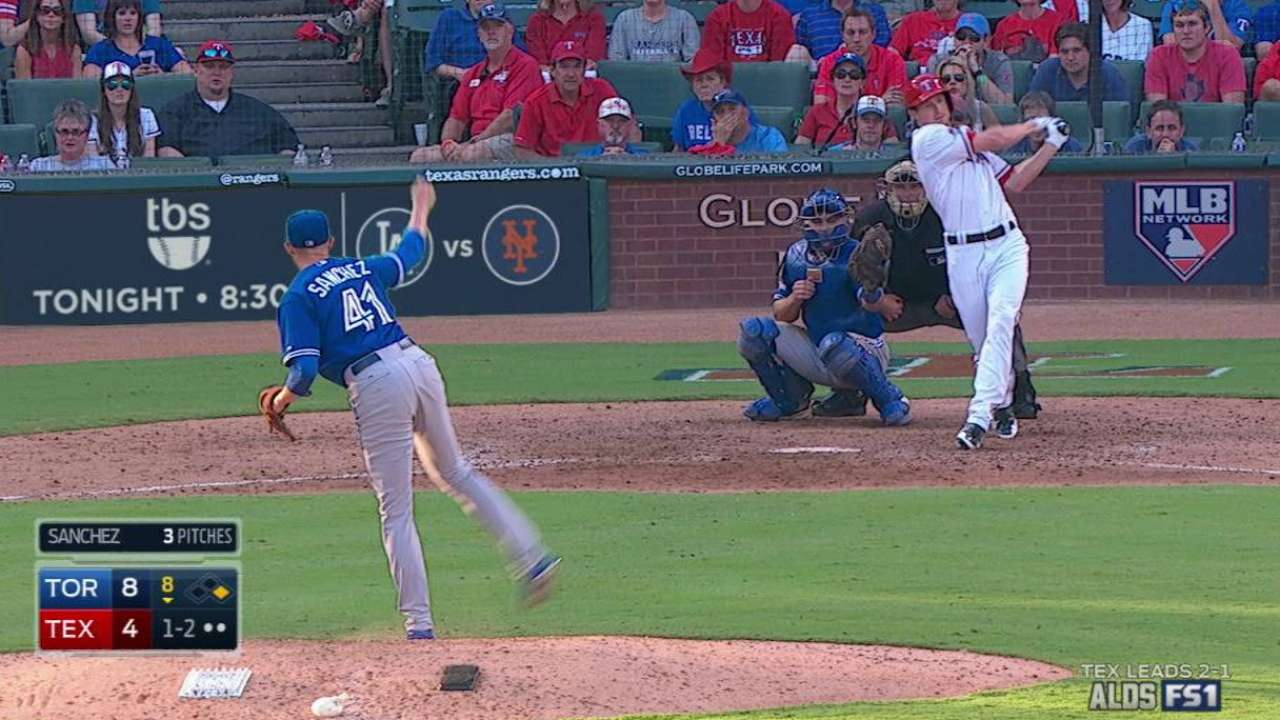 Sanchez locked in, dominating Rangers
