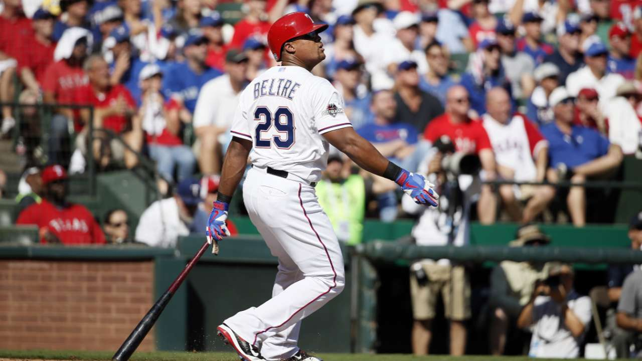 Back in lineup, Beltre tallies two hits in loss