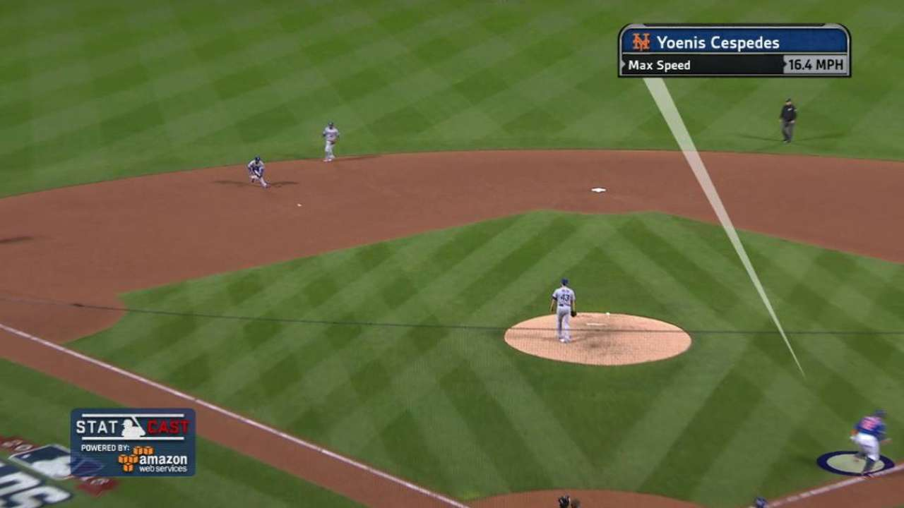 Statcast shows Cespedes' speed