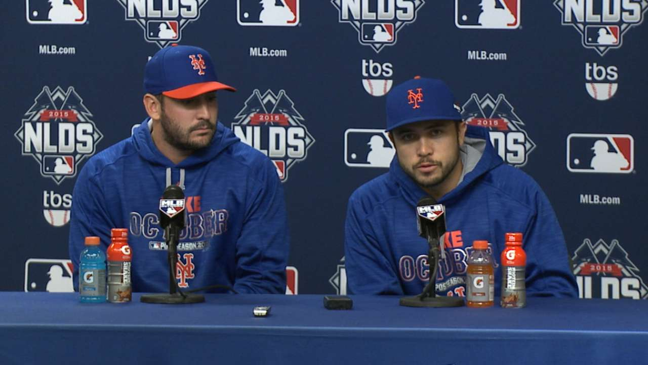 Oct. 12 Matt Harvey, Travis d'Arnaud postgame interview