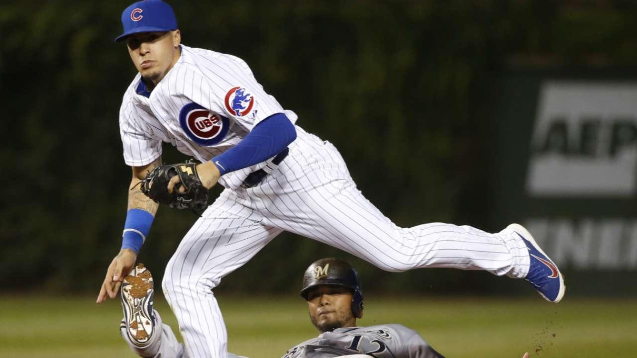 As Cubs evaluate Russell, Baez steps in