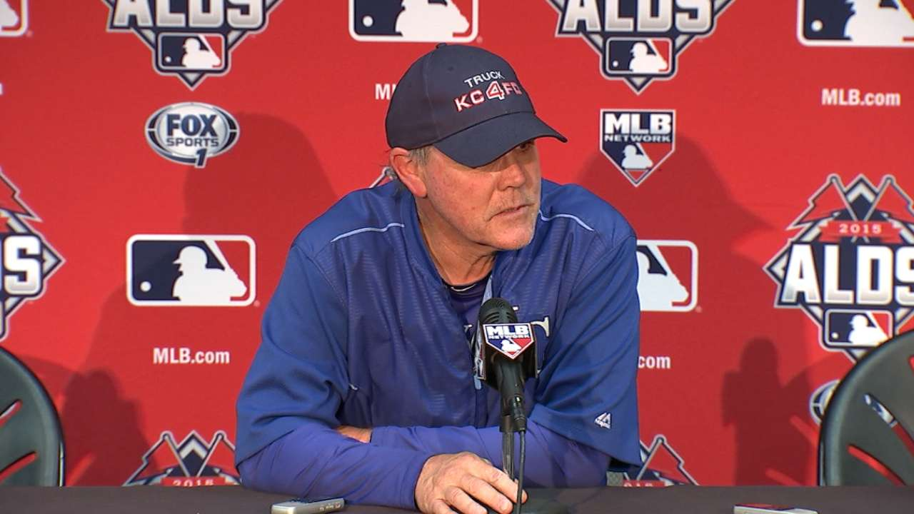 Oct 13 Ned Yost workout day interview