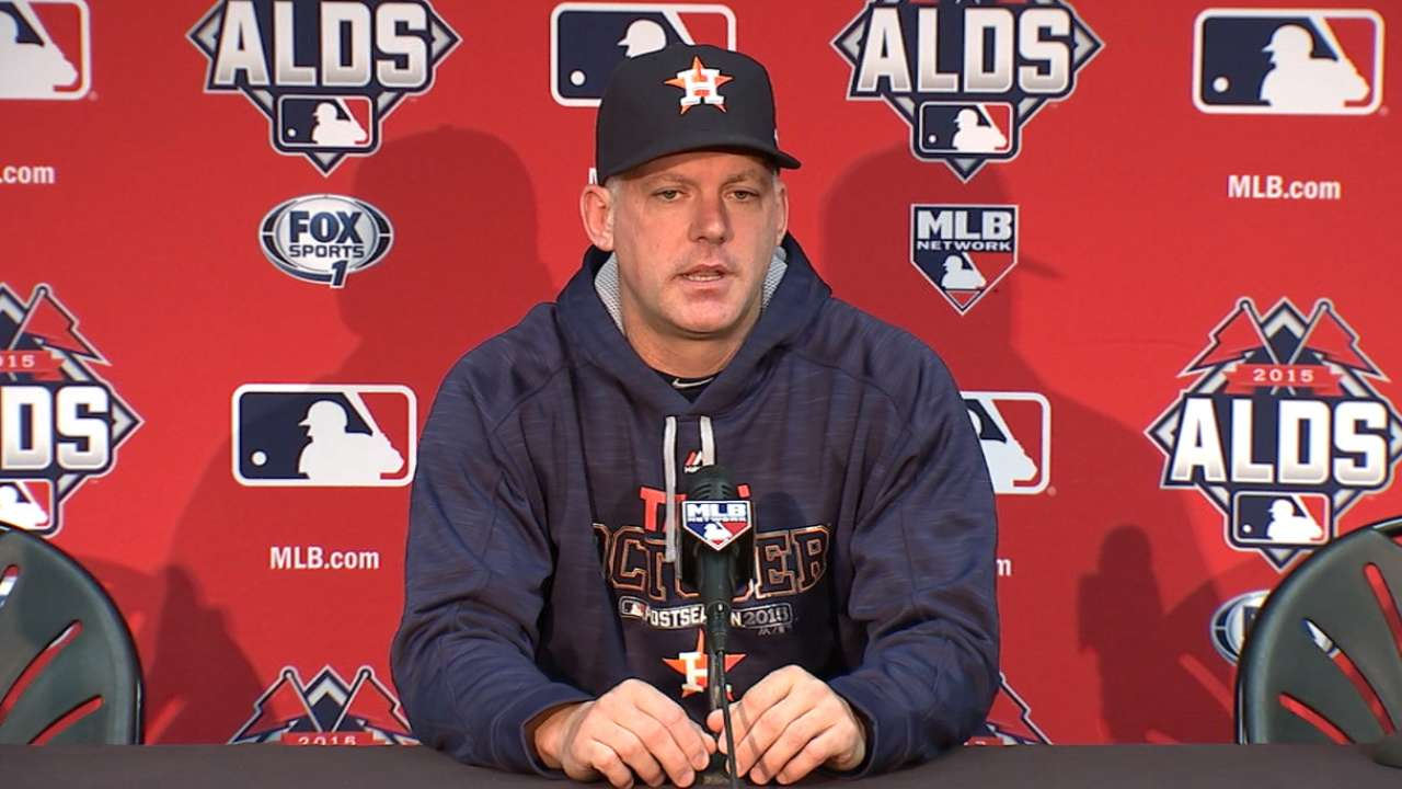 Oct 13 A.J. Hinch workout day interview