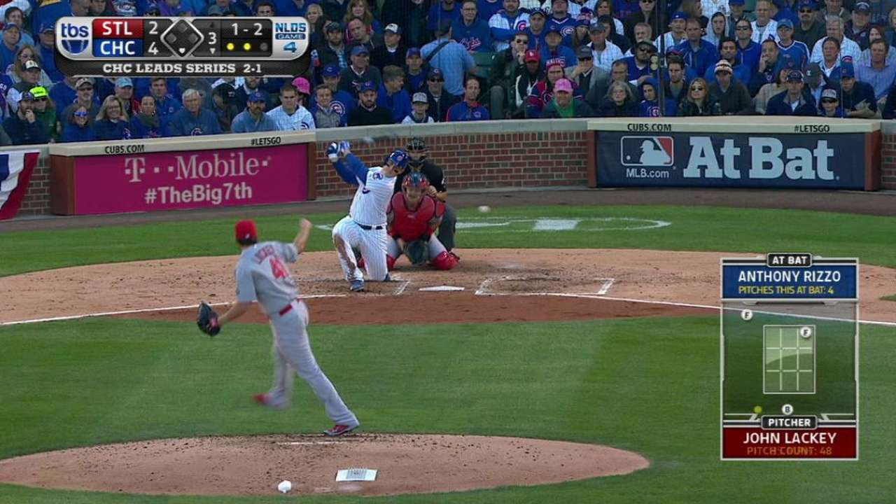 Lackey laments one pitch in shortest playoff start