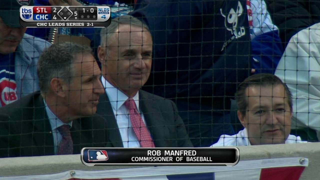 Manfred takes in Game 4