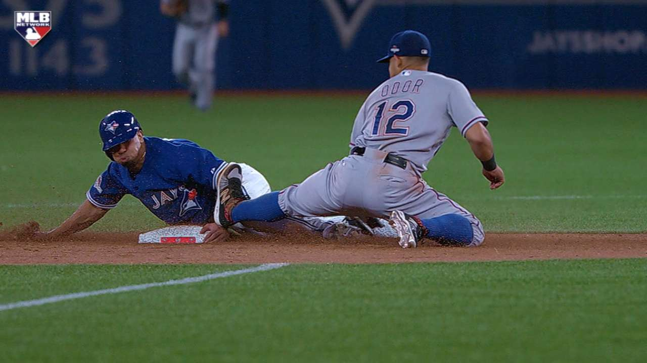 Revere steals second in 8th