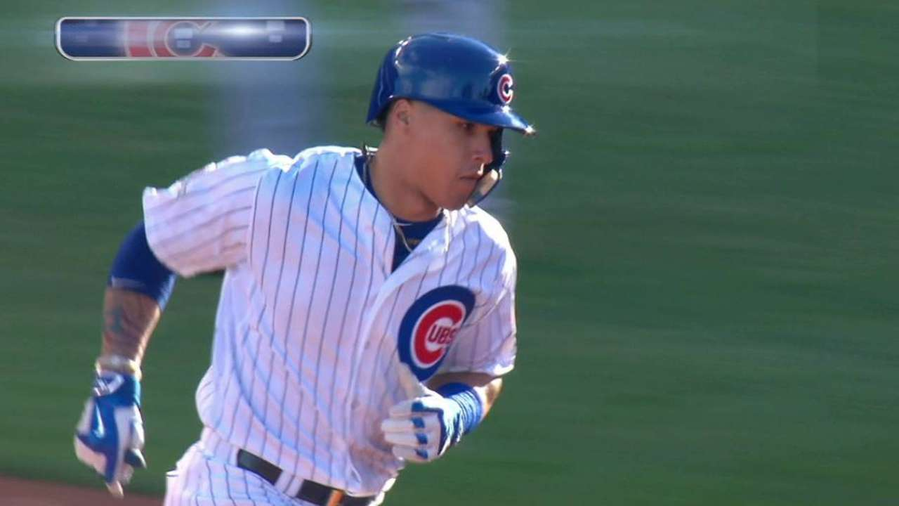 Baez's three-run homer