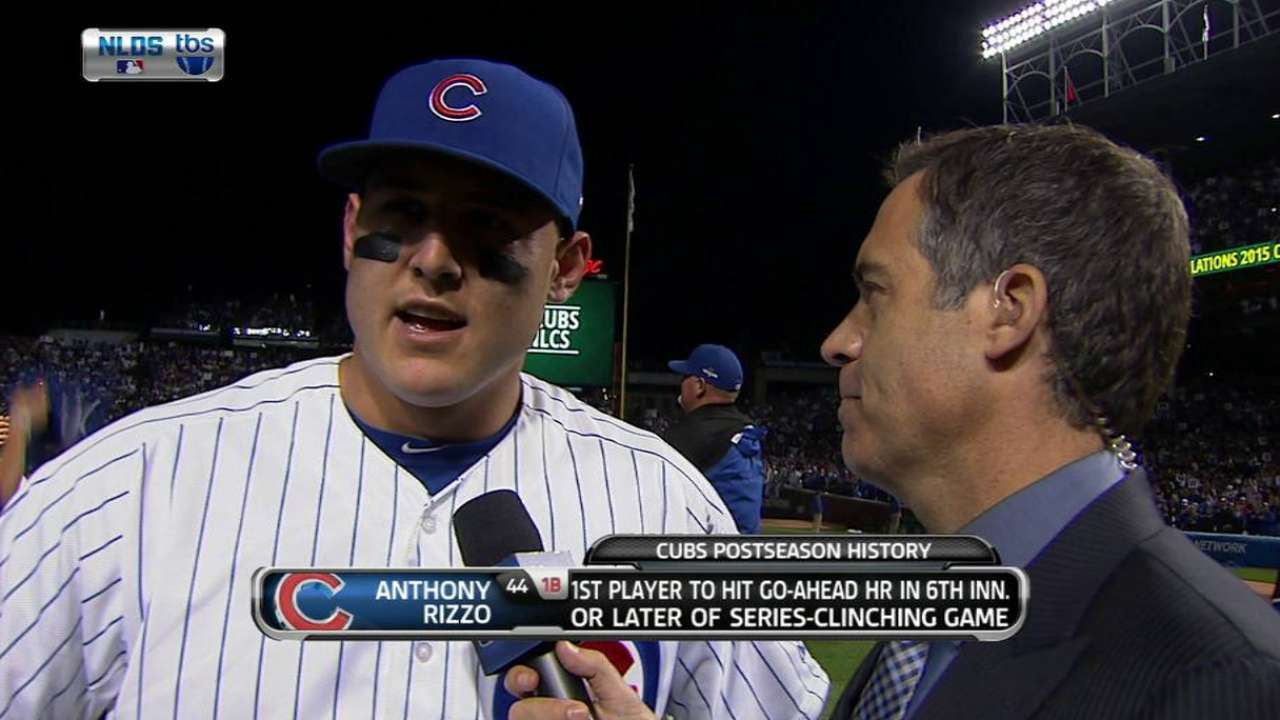 Rizzo on Cubs advancing to NLCS