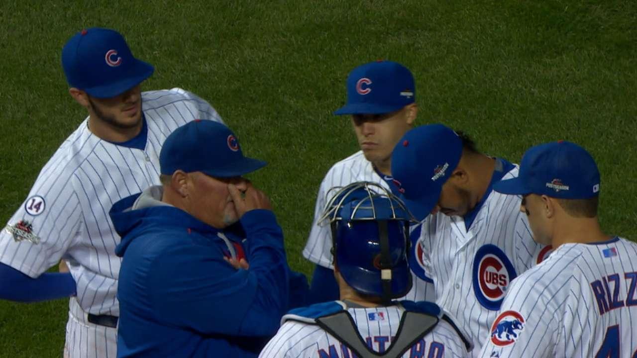 Cubs' bullpen secures NLDS victory