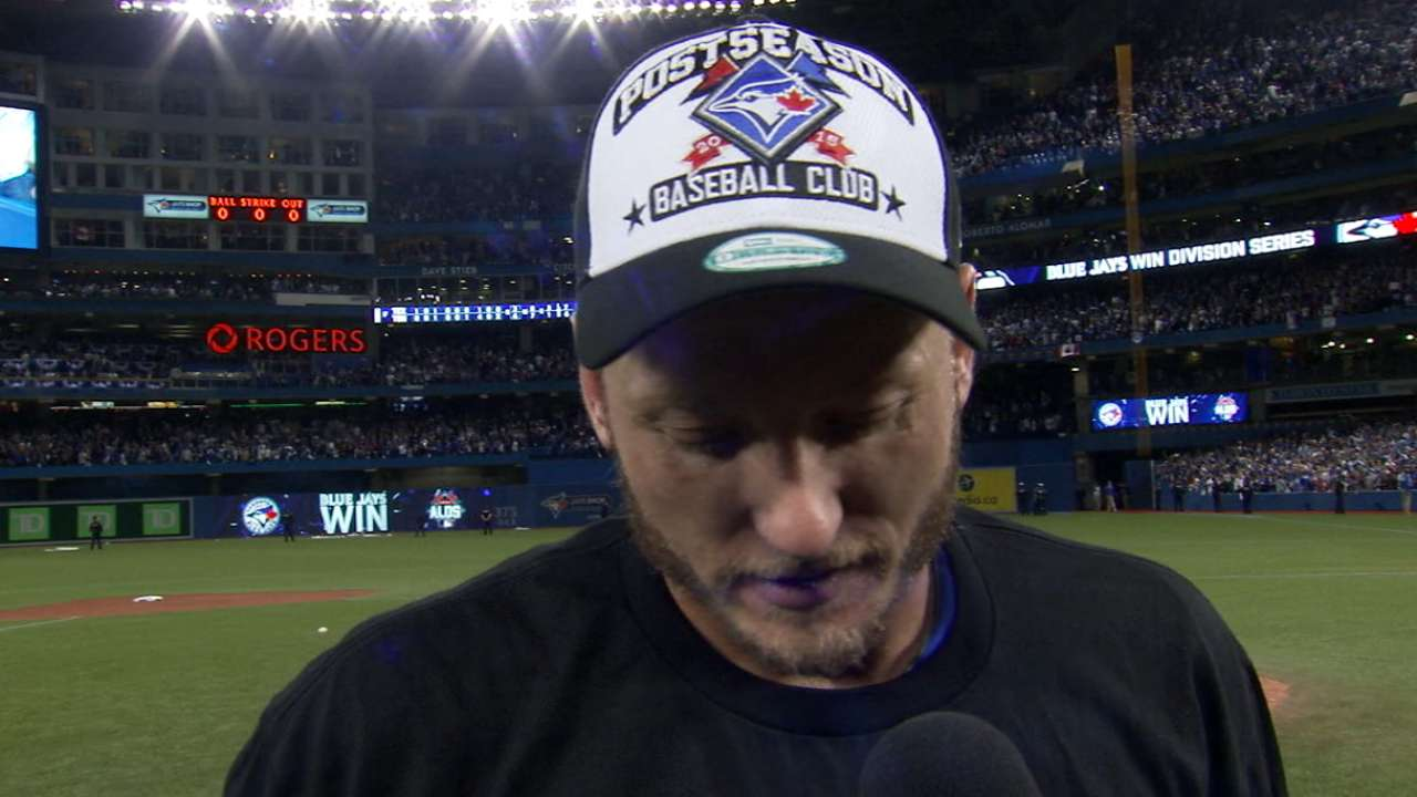 Donaldson on advancing to ALCS