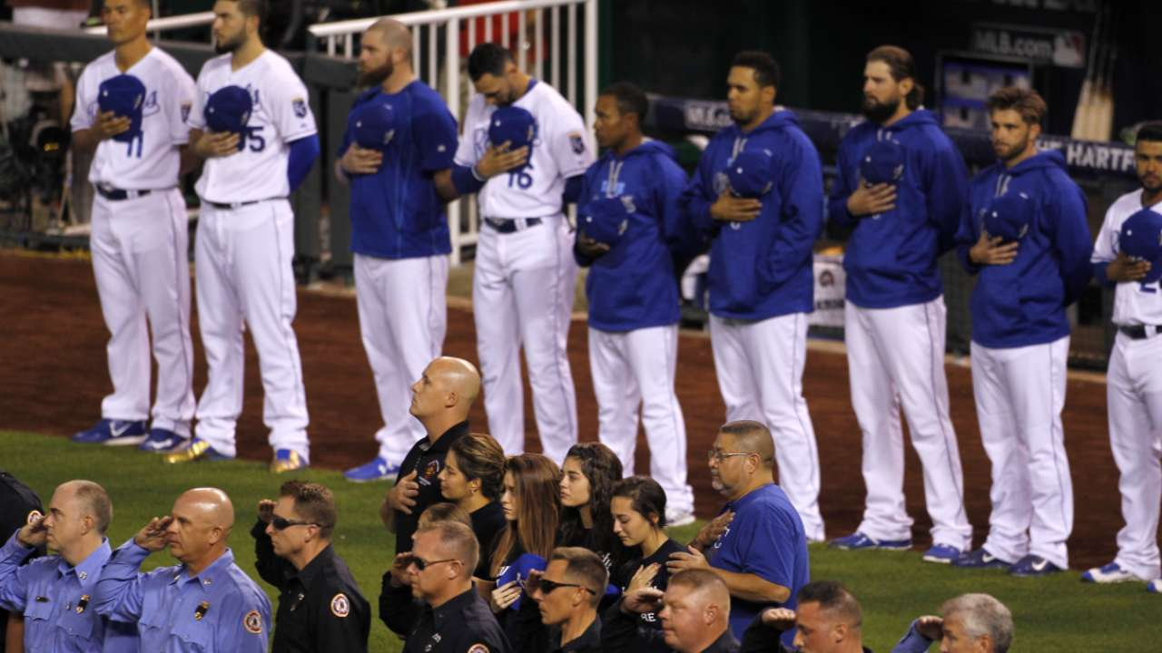 Royals salute fallen firefighters before Game 5