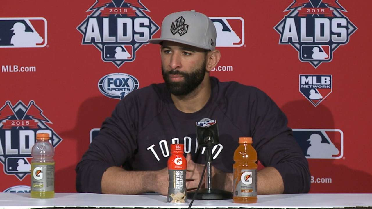 Bautista on homer, victory
