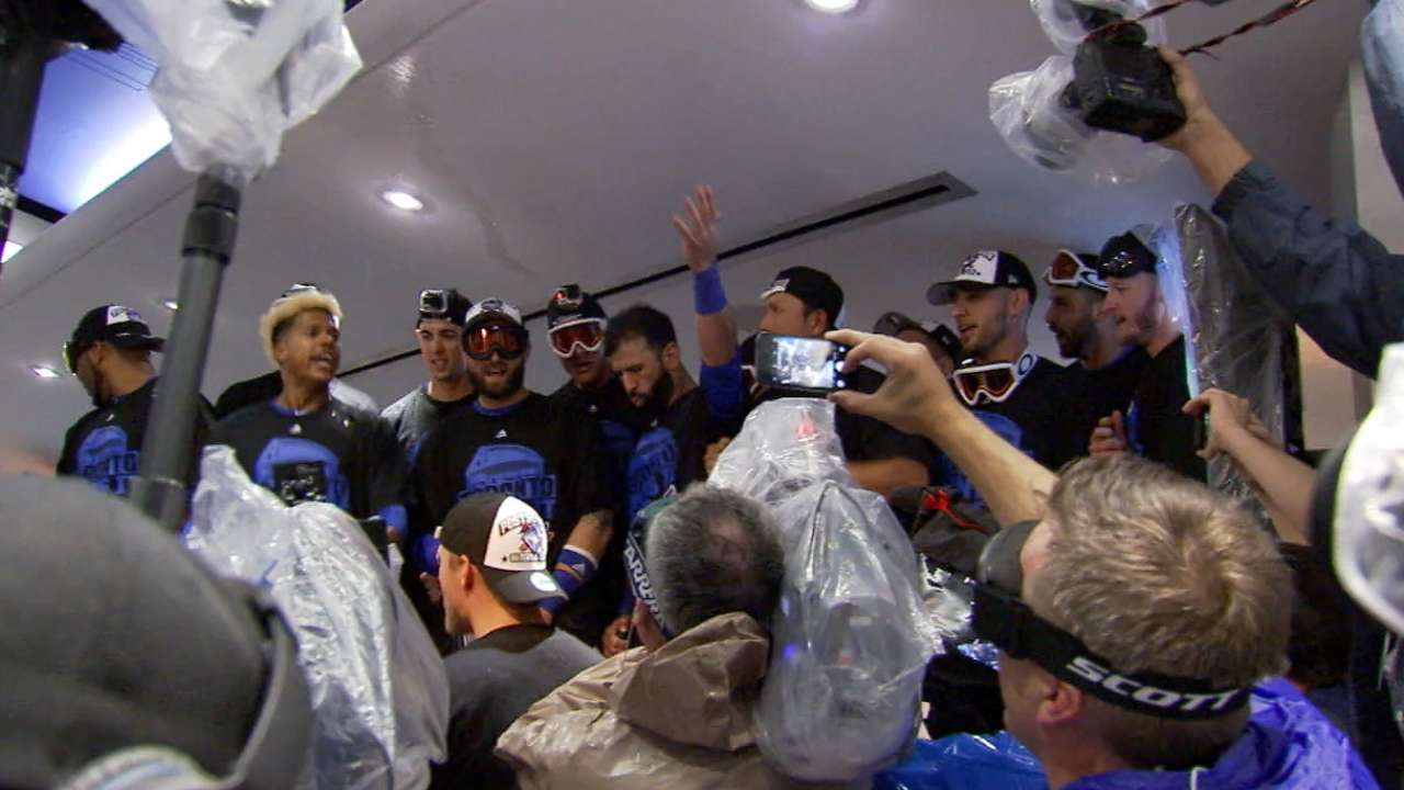 Blue Jays' clincher a national celebration