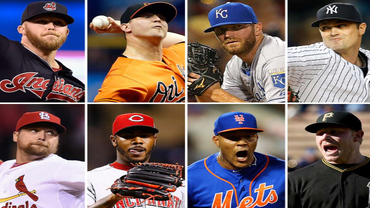 Worthy candidates for AL, NL top relief honor