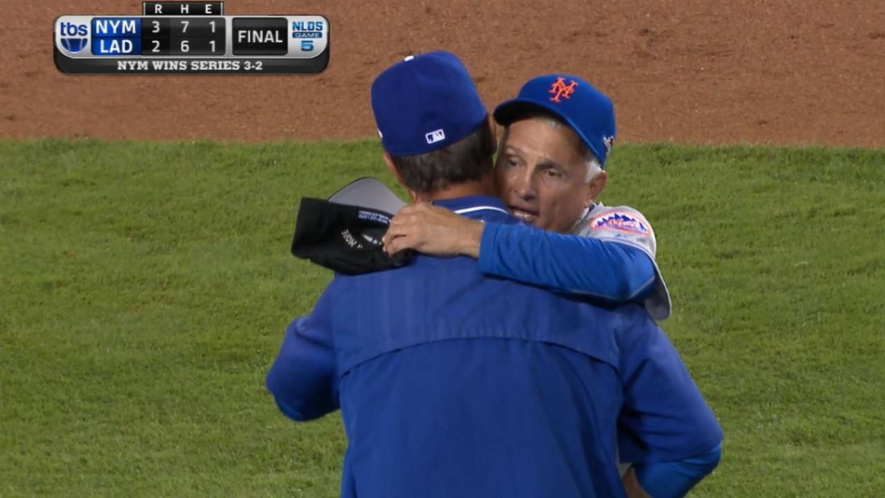 Collins, Mattingly hug it out