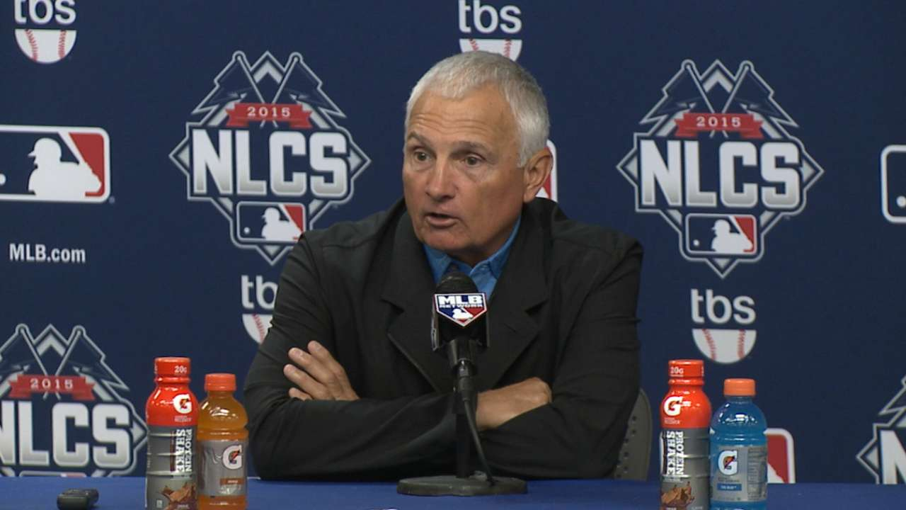 Oct. 16 Terry Collins workout day interview