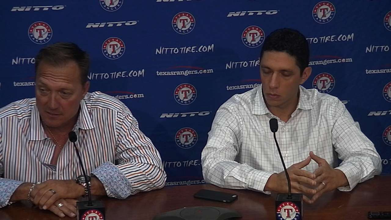 Rangers look to fill rotation, develop prospects in '16