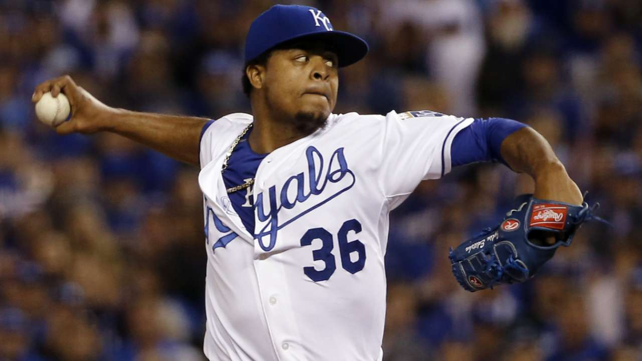 Yost on Volquez in 6th