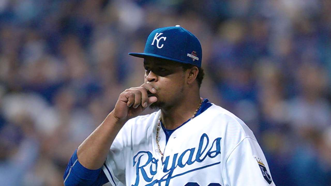 V is for Volquez, victory in ALCS Game 1