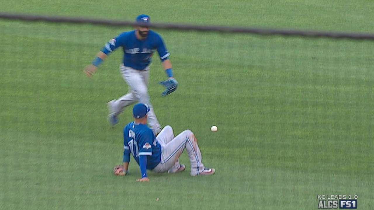Zobrist's popup falls in