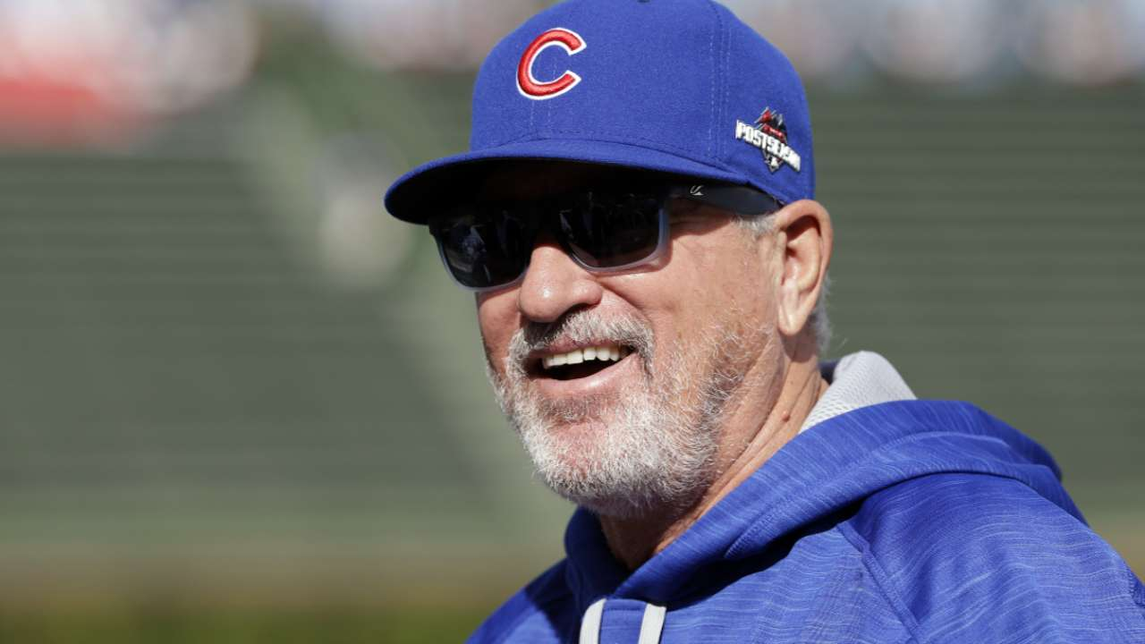 Maddon on his head cold